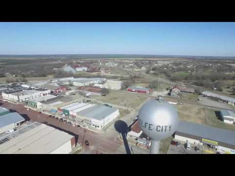Wolfe city Texas a bird's eye view