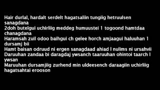 "Hishigdalai Ft Zaya (TaTaR) and TG - Salj amjaagui hair ""Ugtei"" (Lyrics)"