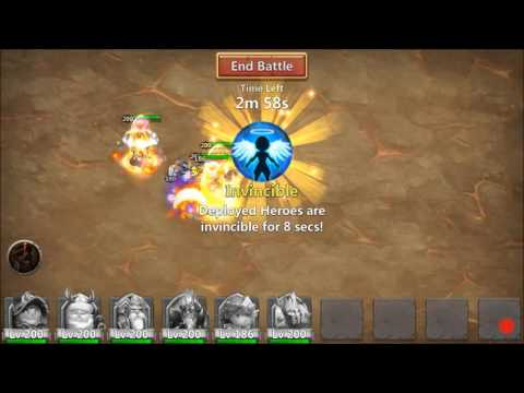 Castle Clash - Perma-Slow Boss 5 And Goblin