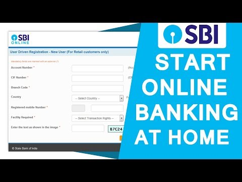 Register yourself on SBI net banking at home no need to go any branchs or fillup any from [HINDI]