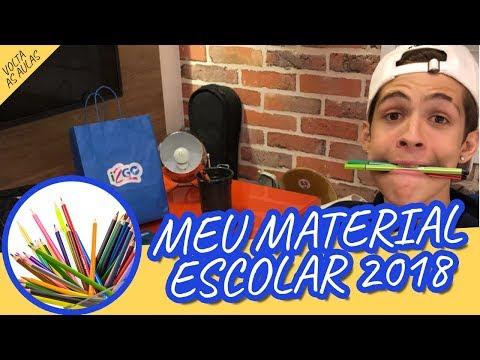 MEU MATERIAL ESCOLAR 2018 - João Guilherme