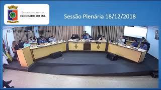 Sessão Plenária 18/12/2018