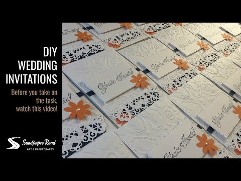 DIY Wedding Invitations by Sandpaper Road