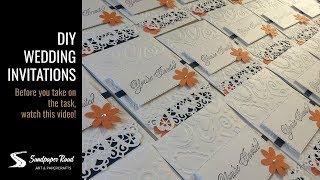 DIY Wedding Invitations by Sandpaper Road