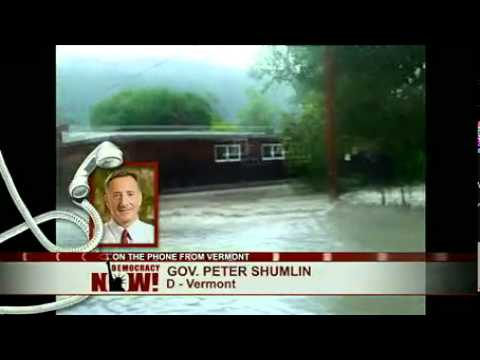 VT Governor Peter Shumlin on Vermont Flooding From Hurricane Irene & Climate Change Policy