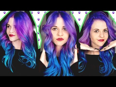 How To: Purple to Teal Hair Color Melt | Arctic Fox Hair Color