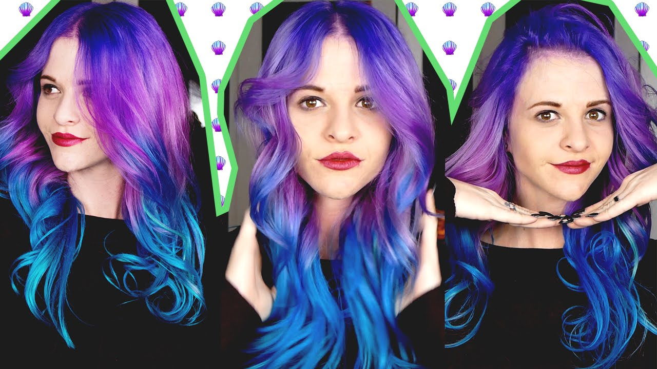 How To Purple To Teal Hair Color Melt Arctic Fox Hair Color Youtube