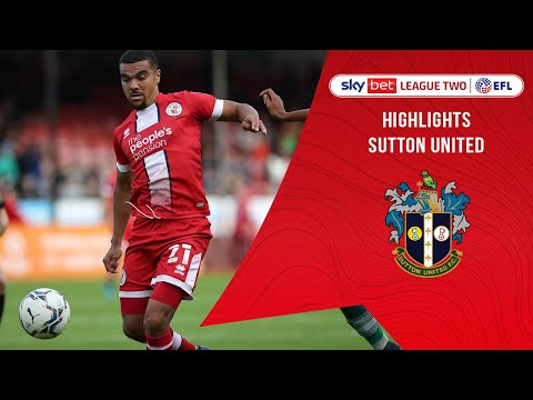 Crawley Town Sutton Goals And Highlights