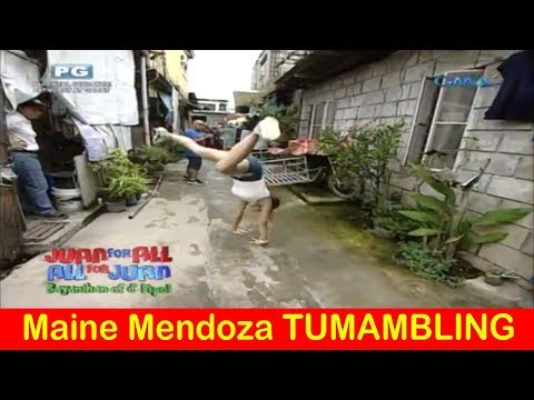 Maine Mendoza TUMAMBLING sa BARANGAY - Juan For All, All For Juan Sugod Bahay - October 02, 2017