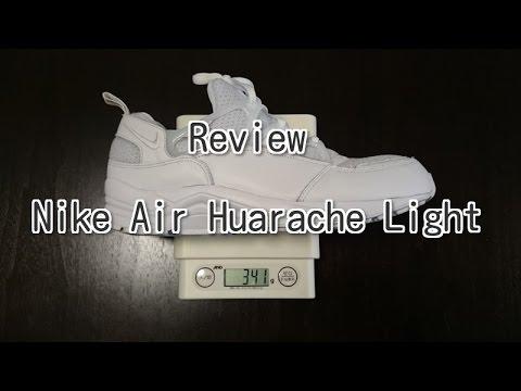 bda169f75b2c Review Nike Air Huarache Light White - YouTube