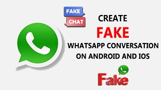 How to Create Fake Whatsapp Conversation On Android & iPhone #iPhone #Android