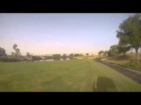 Hole In One At Jumeirah Golf Estates Dubai On Fire Course