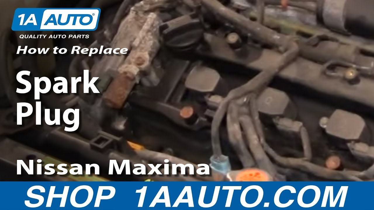 How To Replace Install Change Spark Plugs 2000 03 Nissan Maxima 35l Quest O2 Sensor Wiring Diagram Youtube
