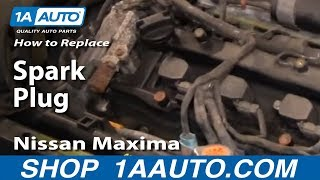 How To Replace Install Change Spark Plugs 2000-03 Nissan Maxima 3.5L