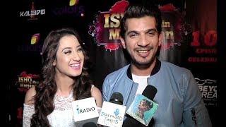 arjun bijlani and alisha panwar interview at ishq mein marjawan 100 episode celebration
