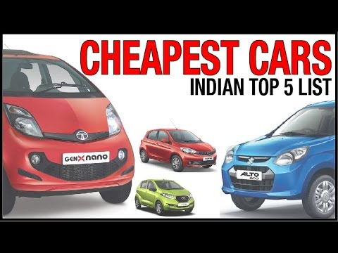 Top 5 cheapest cars in India 2016-2017 !!  low cost cars in india