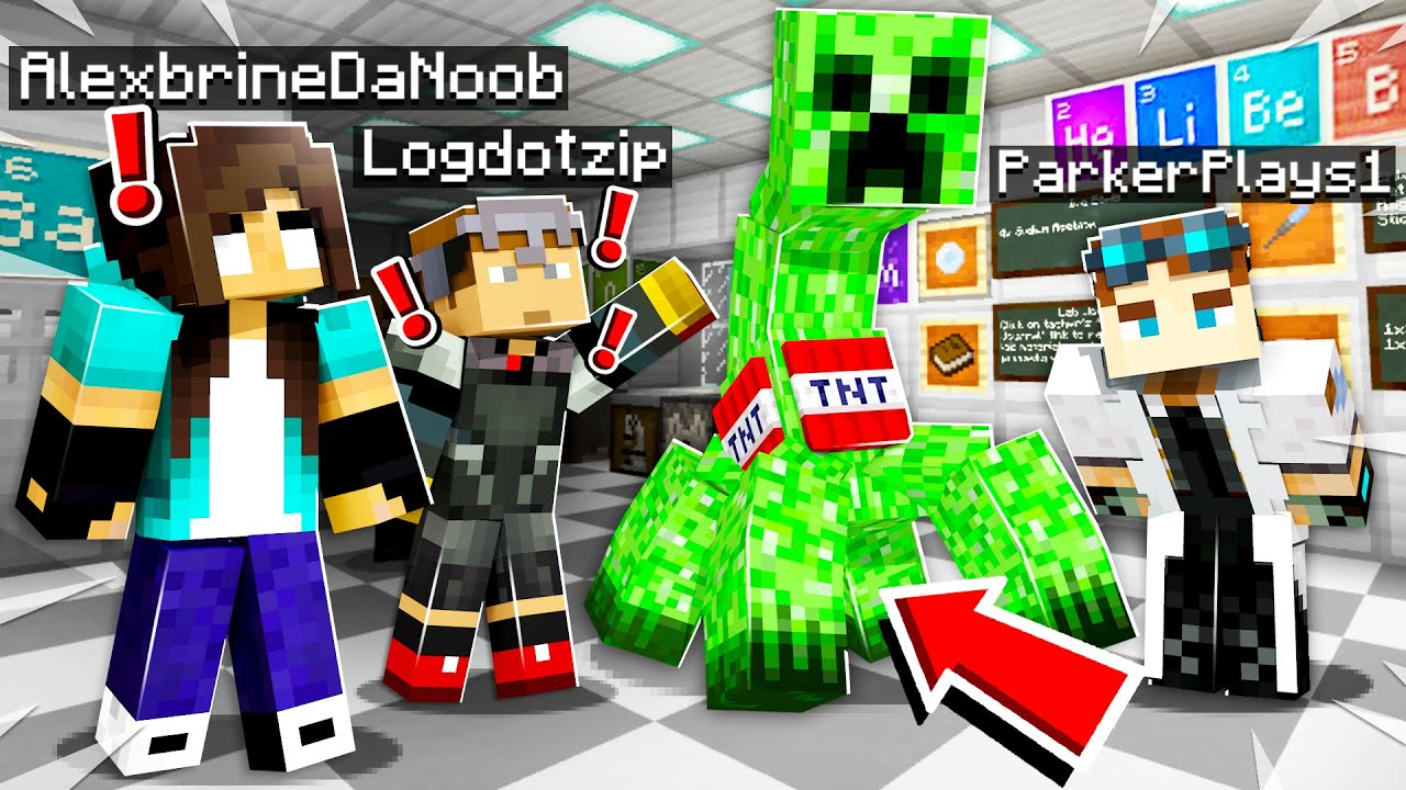 noob Girl vs HARDCORE mobs in Minecraft