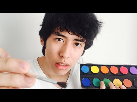 WARNING: INTENSE RELAXATION [ASMR] FACE PAINTING ROLEPLAY
