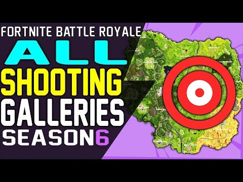 FORTNITE SHOOTING GALLERIES Locations - Get A Score Of 3 Or More At 5 Different Shooting Galleries