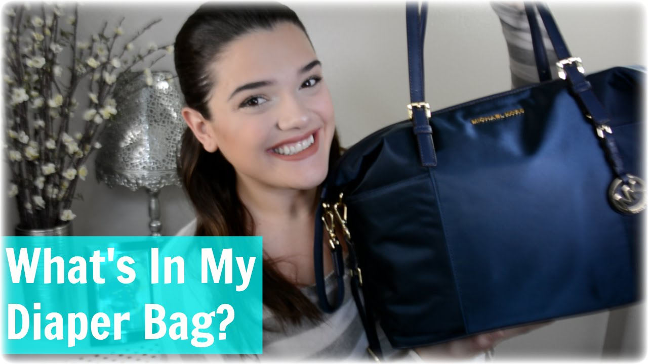 2c2c4a00e53b8d What's In My Diaper Bag? | Michael Kors - YouTube