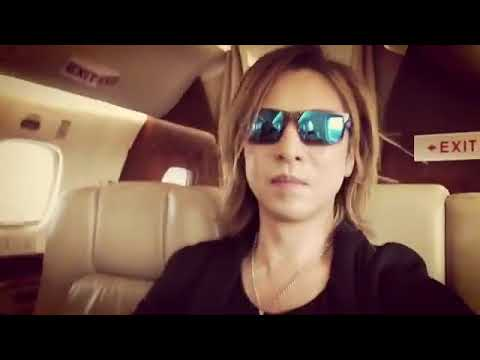 X-Japan Yoshiki on his private plane to Oslo Norway Europe