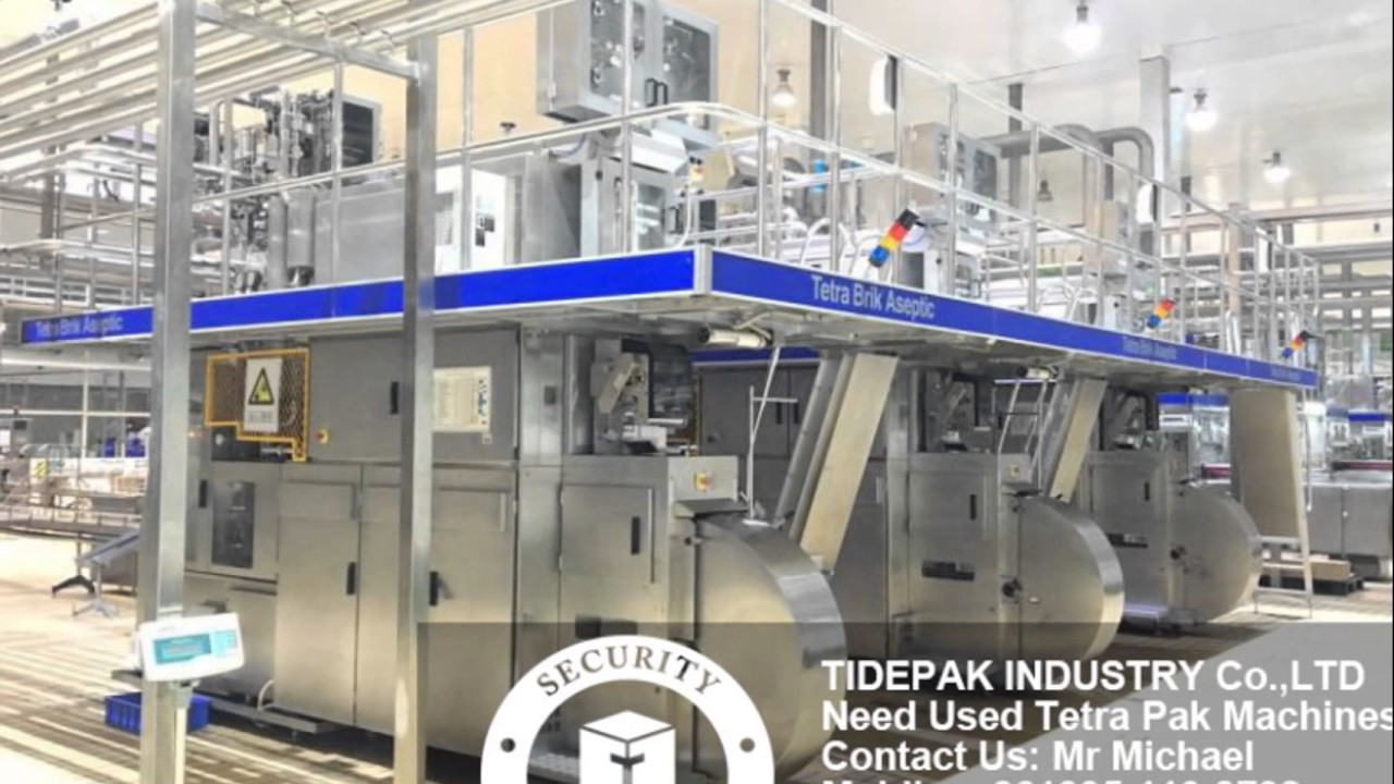 Used Tetra Pak Machine Tetra Pack Tab19 125 Ml Machines