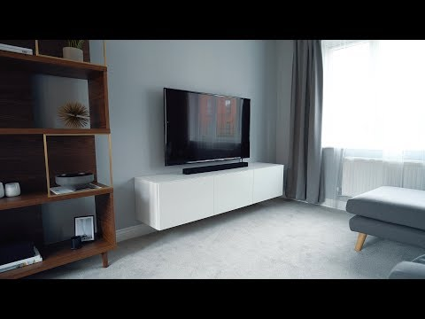 Clean & Minimal 4K TV Setup - Hiding Cables In The Wall