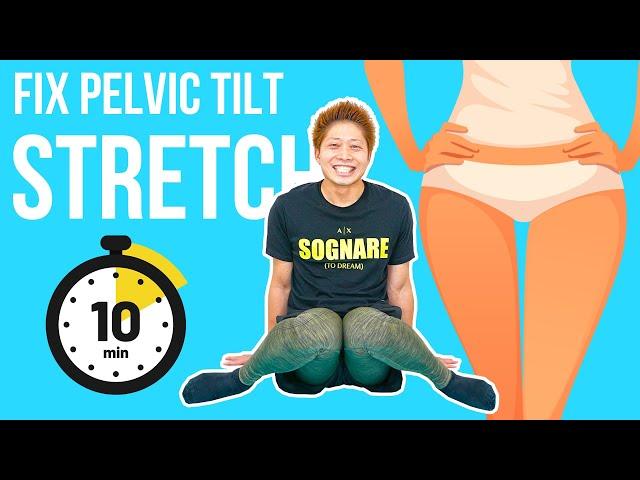 Fix anterior pelvic tilt stretch! 骨盤矯正ストレッチ!