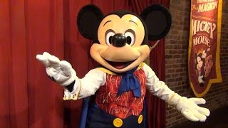 "Talking Mickey Mouse Sings ""Happy Birthday"" (to me) at Magic Kingdom, Town Square Theater, Disney"
