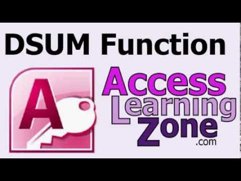 Use the DSUM Function to show Sales Totals in your Microsoft Access  Databases