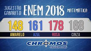 Gabarito ENEM 2018 CHROMOS - Prova Amarela: Questão 148 | Matemática