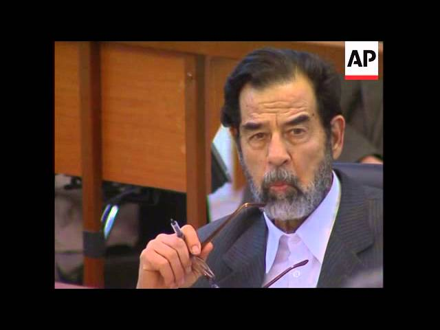 WRAP Lawyers walk out, Ramsey Clark, Saddam says hes not afraid of execution