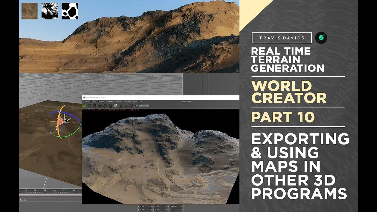 World Creator Introduction - PART 10 - Exporting & Using Maps In Other 3D  Programs