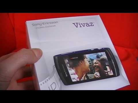 Sony Ericsson Vivaz : Unboxing