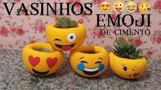 COMO FAZER VASINHO EMOJI ( Emoticon ) NA MEIA  (CIMENTO)