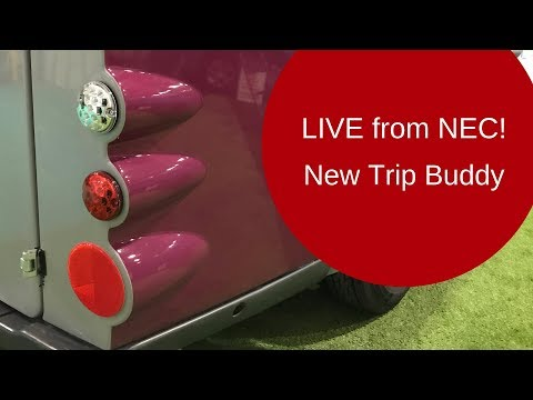 LIVE BROADCAST: Exclusive preview of the new Trip Buddy monocoque caravan from the NEC