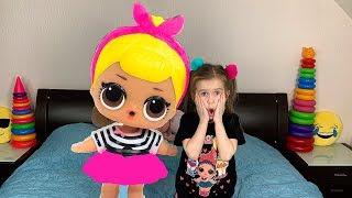 Lika pretend play with  BIG LOL SURPRISE Story for kids with JoyJoy Lika