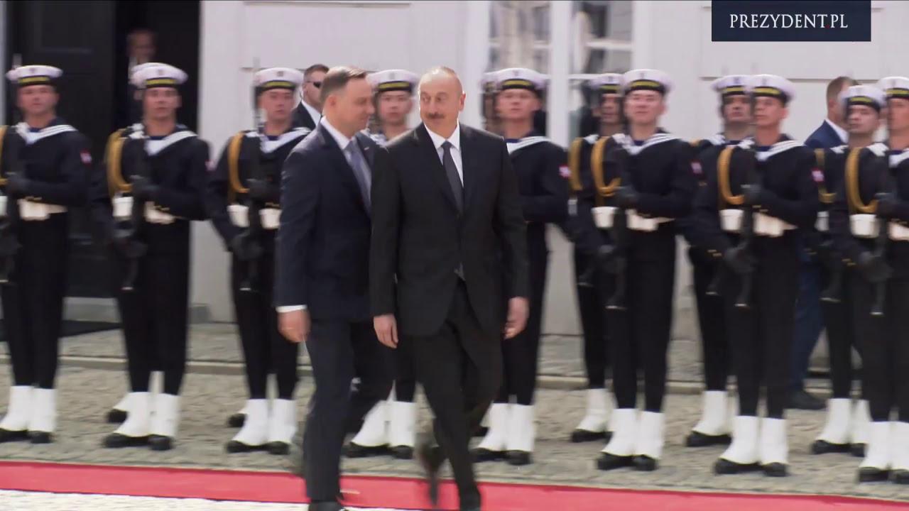 Ceremonia oficjalnego powitania Prezydenta Azerbejdżanu Ilhama Alijewa