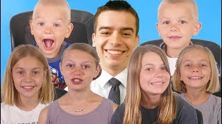 7 KIDS give their DAD the cutest message for Father's Day!!