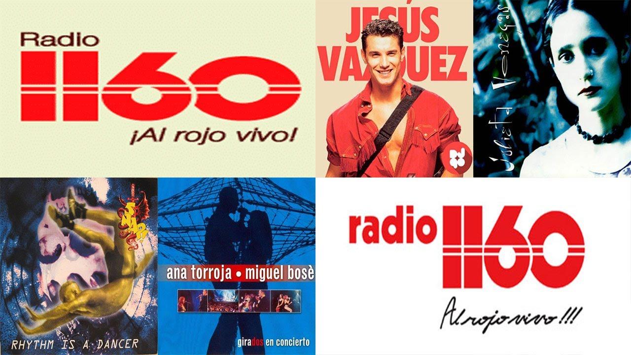 CLÁSICOS del TECHNO POP ROCK de los 90's - RADIO 1160 al rojo vivo