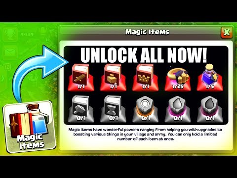 GET ALL MAGIC ITEMS NOW!! - Clash Of Clans - PREPARE FOR THE NEW UPDATE!