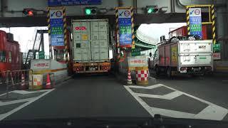 4K 阪神高速神戸線⇔湾岸線 京橋・住吉浜の乗り継ぎ 港湾幹線道路(ハーバーハイウェイ)経由 等速 2019年撮影版