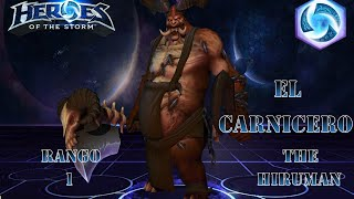 heroes of the storm   gameplay   rank 1   el carnicero lvl 5   ranked   espaol   build dps