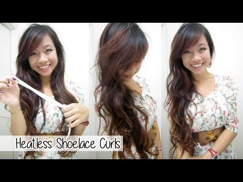 how to curl your hair with a shoelace headband l overnight