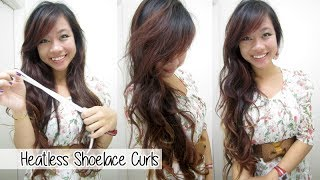 How to Curl Your Hair with a Shoelace/Headband l Overnight Heatless Curls