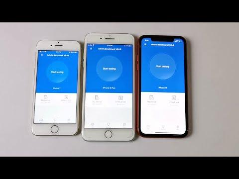 IPhone 11 vs IPhone 8 Plus vs IPhone 7 (IOS 13.4) - ANTUTU TEST !!