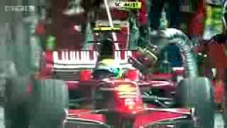 Massa, Ferrari F1 Driver, Accident at Pit Stop in Singapore
