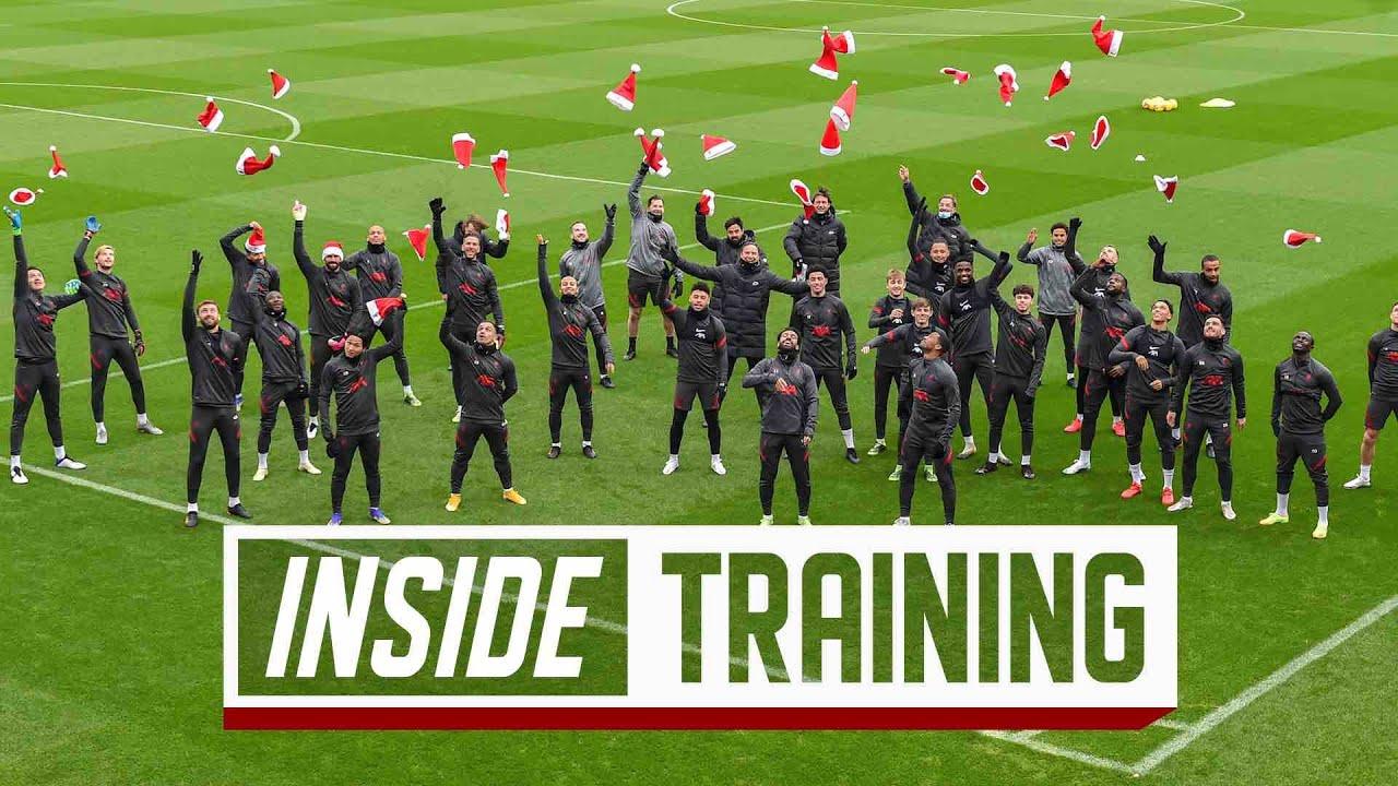 Inside Training: Reds get into Christmas spirit at AXA Training Centre