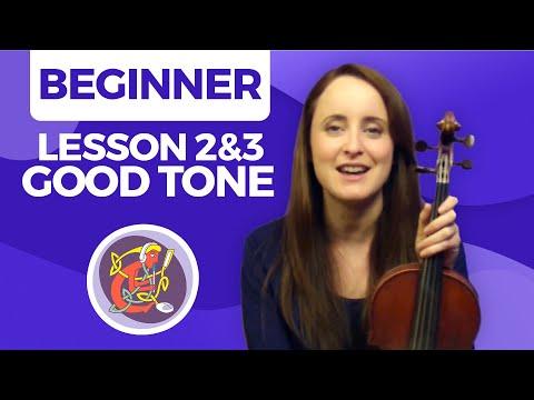 Irish Fiddle Lesson - [Creating A Good Tone] Fiddle Basics #2 & 3