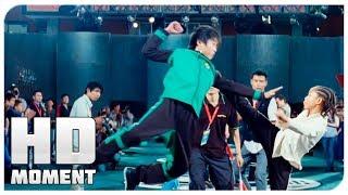 Первый бой Дре на турнире - Каратэ-пацан (2010) - Момент из фильма